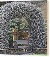 Rustic Inn In Jackson Wyoming Wood Print