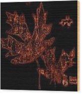 Rustic Leaves Wood Print