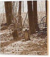 Rustic Living Wood Print