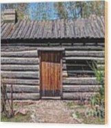 Rustic Pioneer Log Cabin - Salt Lake City Wood Print