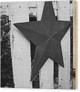 Rustic Star Wood Print