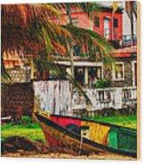 Rustic Village Wood Print