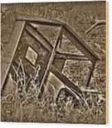 Rusting Away Wood Print