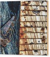 Rusting Boat Anchor Wood Print