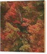 Rustling Autumn Leaves Wood Print