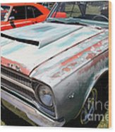 Rusty 1965 Plymouth Satellite . 5d16631 Wood Print by Wingsdomain Art and Photography