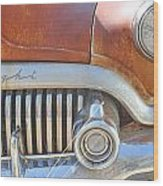 Rusty Abandoned Old Buick Eight Wood Print