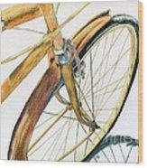 Rusty Beach Bike Wood Print