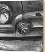 Rusty Cadillac Detail Wood Print