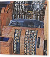 Rusty Cash Register Wood Print