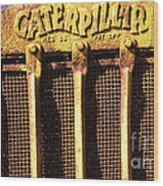 Rusty Caterpillar Wood Print