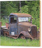 Rusty Chevy Wood Print