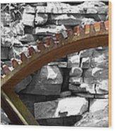 Rusty Cog Wood Print