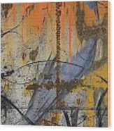 Rusty Crow  Wood Print