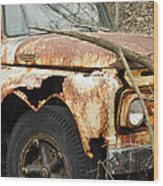 Rusty Ford Wood Print