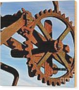 Rusty Gears Mechanism Wood Print
