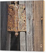 Rusty Hinge Wood Print