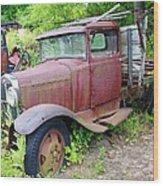Rusty Is Retired Wood Print