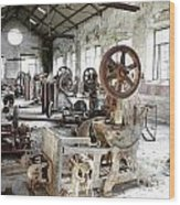 Rusty Machinery Wood Print by Carlos Caetano
