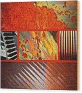 Rusty Metal Canvas Wood Print