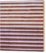 Rusty Metal Wood Print