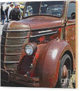 Rusty Old 1935 International Truck . 7d15497 Wood Print by Wingsdomain Art and Photography