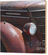 Rusty Old 1935 International Truck . 7d15499 Wood Print by Wingsdomain Art and Photography