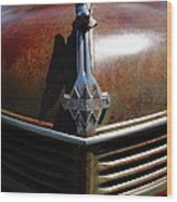 Rusty Old 1935 International Truck Hood Ornament. 7d15503 Wood Print by Wingsdomain Art and Photography