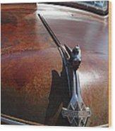 Rusty Old 1935 International Truck Hood Ornament. 7d15506 Wood Print