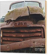 Rusty Old Gmc Truck . 7d8396 Wood Print