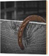 Rusty Shoe Wood Print