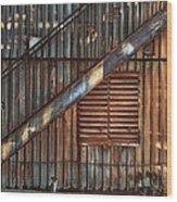 Rusty Stairway Wood Print by Brenda Bryant