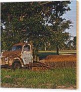 Rusty Truck And Tank Wood Print by Douglas Barnett