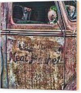 Rusty Truck Door Wood Print