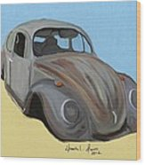 Rusty V.w. Bug Wood Print