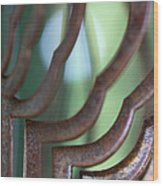 Rusty Windchimes Wood Print