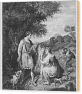 Ruth & Boaz Wood Print