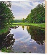 Rye Reflections Wood Print