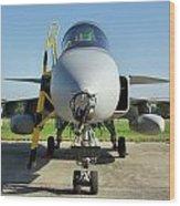 Saab Jas39d Gripen Wood Print