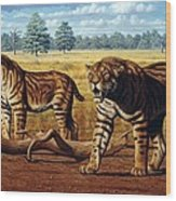 Sabre-toothed Cats, Artwork Wood Print