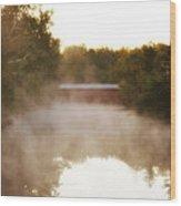 Sachs Covered Bridge In The Mist Wood Print