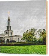 Sacramento Temple Landscape Wood Print