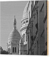 Sacre Coeur View Wood Print