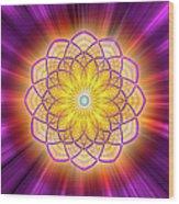 Sacred Geometry 110 Wood Print
