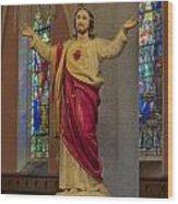 Sacred Heart Of Jesus Wood Print