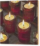 Sacrificial Candles Wood Print
