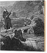 Sadler: Fishing, 1875 Wood Print