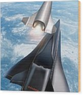 Saenger Horus Spaceplane, Artwork Wood Print by Detlev Van Ravenswaay