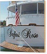 Safari Rose Lake Tahoe Wood Print