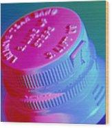Safety Cap On A Medicine Bottle Wood Print by Steve Horrell
